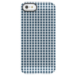 真夜中の青いギンガムの点検パターン PERMAFROST iPhone SE/5/5sケース
