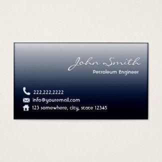 真夜中の青い石油エンジニアの名刺 名刺