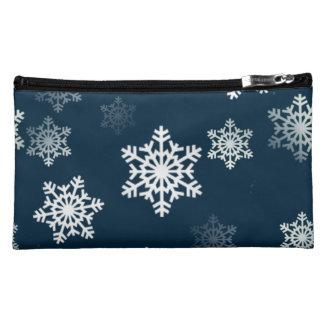 真夜中の青い雪突風 コスメティックバッグ