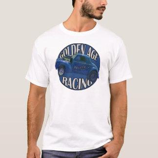 真夜中の青を競争させる黄金時代のWillys Gasserのドラッグ Tシャツ