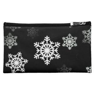 真夜中の黒い雪の薄片の突風 コスメティックバッグ