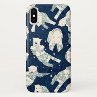 真夜中北極白くま iPhone X ケース