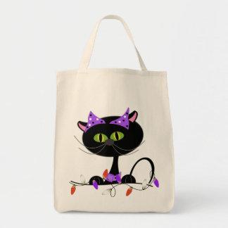 真夜中猫のトリック・オア・トリートのバッグ トートバッグ