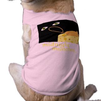 真夜中MUNCHERSのマウスはチーズ犬タンクティーを注目します ペット服