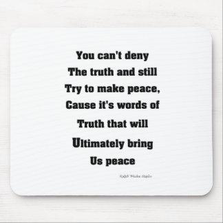 真実および平和 マウスパッド
