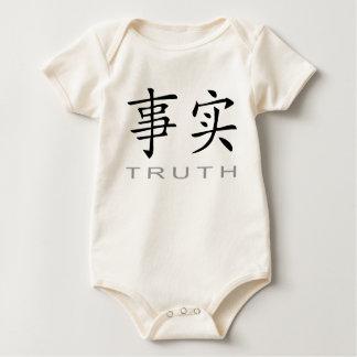 真実のための中国のな記号 ベビーボディスーツ