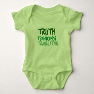真実のハッカの香りがする緑のベビーのスーツ ベビーボディスーツ