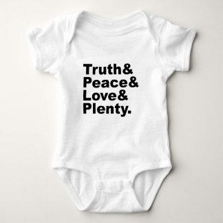 真実の大臣及び平和及び愛及び沢山 ベビーボディスーツ