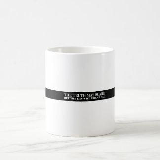 真実はおびえるかもしれません コーヒーマグカップ