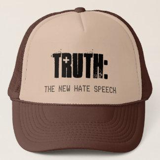 真実は新しいヘイトスピーチ-ユニセックスな帽子です キャップ