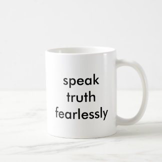 真実を大胆不敵に話して下さい コーヒーマグカップ