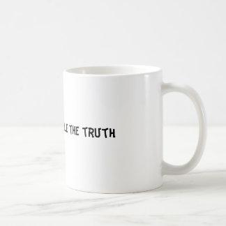 真実を扱うことができません コーヒーマグカップ