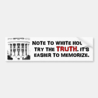 真実を試みて下さい。 暗記することは容易です。 反オバマ バンパーステッカー