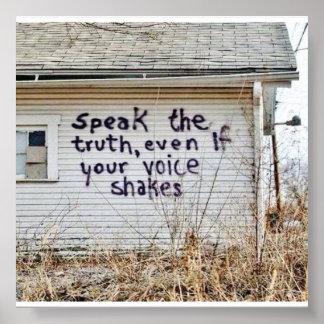 真実を話して下さい! あなたの声が揺れても! ポスター
