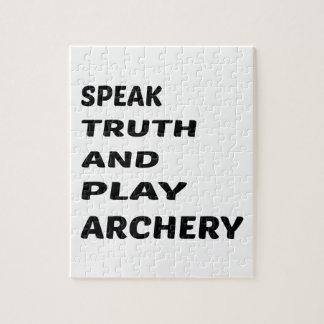 真実を話し、アーチェリーを遊んで下さい ジグソーパズル