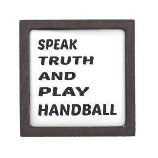 真実を話し、ハンドボールを遊んで下さい ギフトボックス