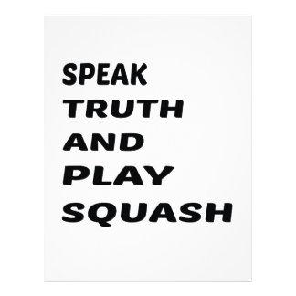 真実を話し、南瓜を遊んで下さい レターヘッド