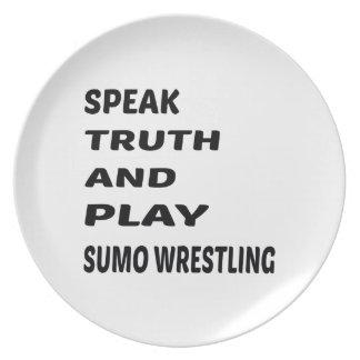 真実を話し、相撲苦闘を遊んで下さい プレート