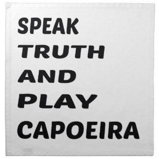 真実を話し、Capoeira.を遊んで下さい ナプキンクロス
