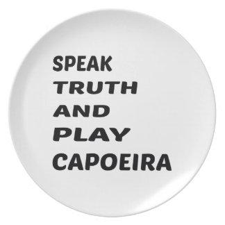 真実を話し、Capoeira.を遊んで下さい プレート