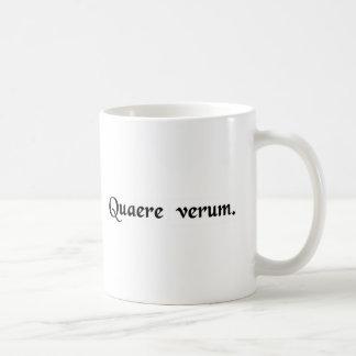 真実を追求して下さい コーヒーマグカップ