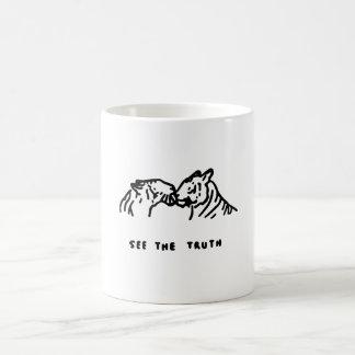 真実-マグ--を見て下さい コーヒーマグカップ