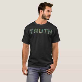 """""""真実Tシャツ""""はタイポグラフィのあります Tシャツ"""