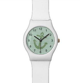 真新しいグリッターの航海のないかり 腕時計