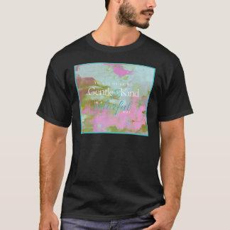 真新しいパイントの多彩な油の抽象芸術の穏やかな種類 Tシャツ