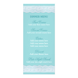 真新しいレースメニュー結婚式夕食メニューテンプレート ラックカード