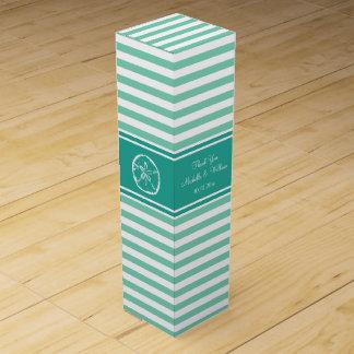 真新しい砂ドルのビーチ結婚式のワイン用化粧箱 ワインギフトボックス