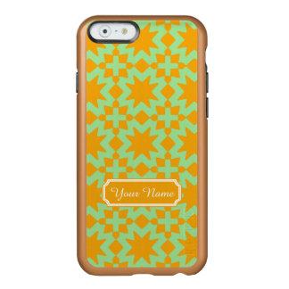 真新しい緑およびオレンジスタイリッシュでシックなパターン INCIPIO FEATHER SHINE iPhone 6ケース