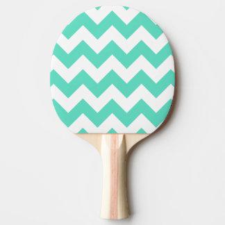 真新しい緑のシェブロンの卓球ラケット 卓球ラケット