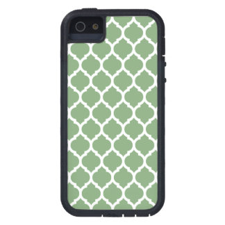 真新しい緑のモロッコの格子パターン iPhone SE/5/5s ケース