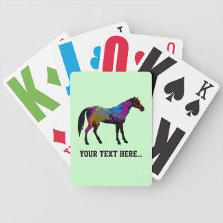真新しい緑の名前入りな競走馬のデザイン バイスクルトランプ