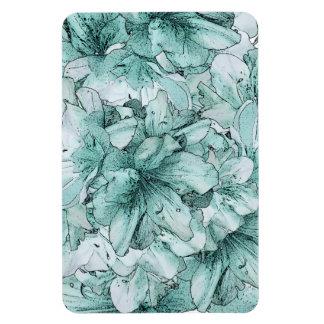 真新しい緑の図解入りの、写真付きのな花の花柄パターン マグネット