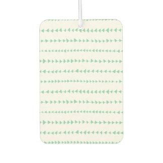 真新しい緑の白くアステカな矢パターン カーエアーフレッシュナー