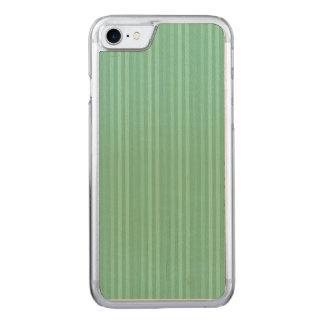 真新しい緑の縦ストライプパターン CARVED iPhone 8/7 ケース