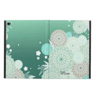 真新しい緑の花のカスタムなiPadの空気2箱 Powis iPad Air 2 ケース
