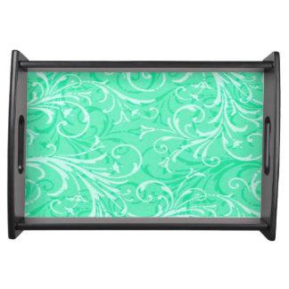 真新しい緑の装飾用のトレイ トレー