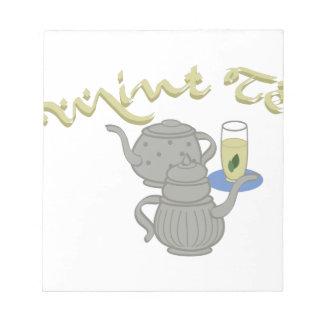 真新しい茶 ノートパッド