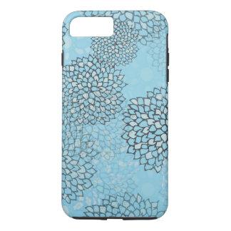 真新しく、灰色の花の破烈のデザイン iPhone 8 PLUS/7 PLUSケース