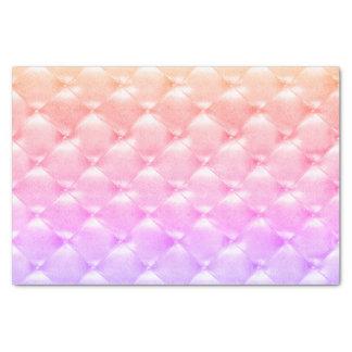 真珠のようでグラデーションなモモのピンクの紫色の房状の革 薄葉紙