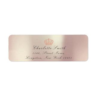 真珠のようなピンクのグリッターRSVPの皇太子妃のブライダル ラベル