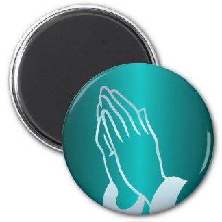 真珠のような祈る手 マグネット