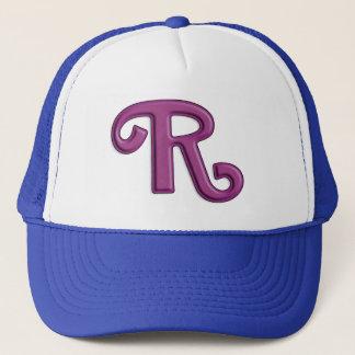 """真珠のような紫色の手紙""""R """" キャップ"""