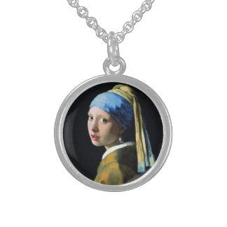 真珠のイヤリングのバロックの芸術の1月Vermeerの女の子 スターリングシルバーネックレス