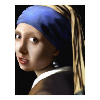 真珠のイヤリングを持つ女の子 レターヘッド