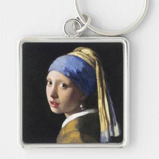 真珠のイヤリングを持つ女の子、1月Vermeer キーホルダー