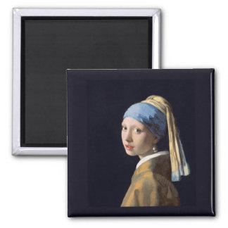真珠のイヤリングを持つ女の子、Vermeer マグネット